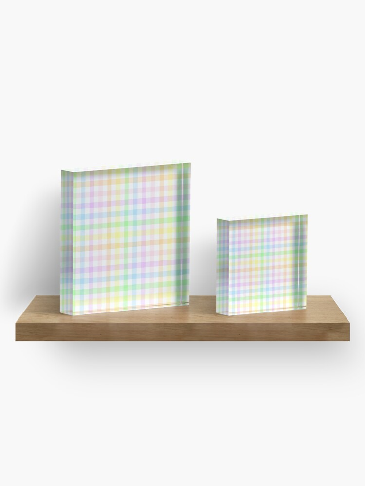 Alternate view of Rainbow Gingham Acrylic Block