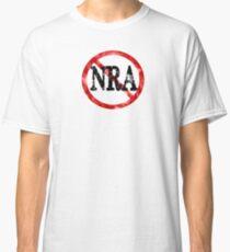 Anti NRA Badge Gun Control Vintage Retro Style Political Gear Classic T-Shirt