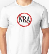 Anti NRA Badge Gun Control Vintage Retro Style Political Gear Unisex T-Shirt