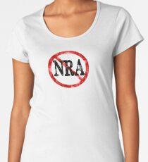 Anti NRA Badge Gun Control Vintage Retro Style Political Gear Women's Premium T-Shirt