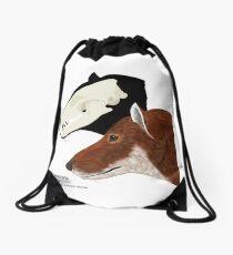 Falkland Island Wolf Drawstring Bag
