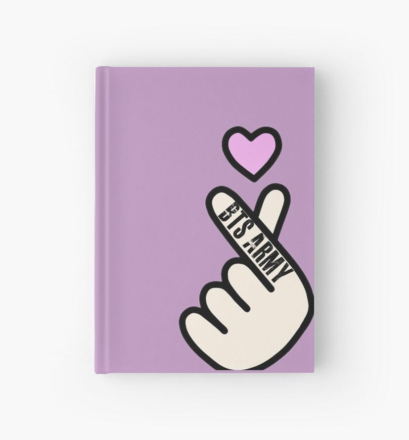 BTS Finger Heart BTS ARMY Design by BTSNoonaARMY