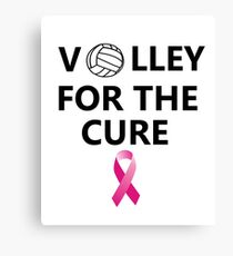 Volleyball Breast Cancer T-Shirt Canvas Print