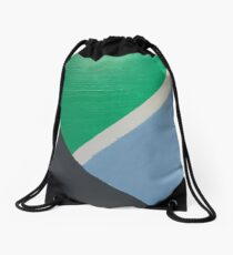 Colourblock - green/blue/grey Drawstring Bag