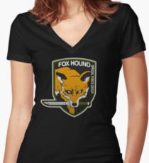 Fox Hound Special Force Group Women's Fitted V-Neck T-Shirt