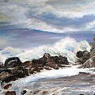 Storm at castle rock by Ken Tregoning