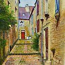 Une Porte Rouge, Sarlat-la-Canéda, Périgord, France by Dai Wynn