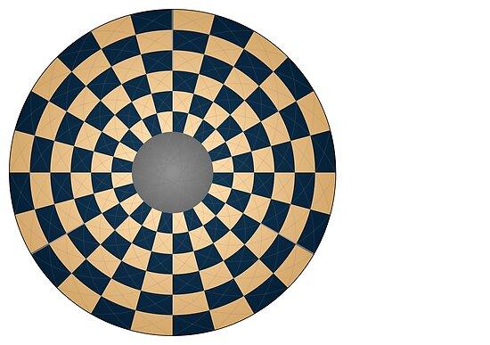 Circular Three Player Chess Board by glyphobet