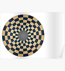 Circular Three Player Chess Board Poster
