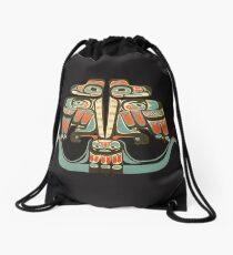 Thunderbird Northwest Native American Indian Haida Tribe Art Drawstring Bag