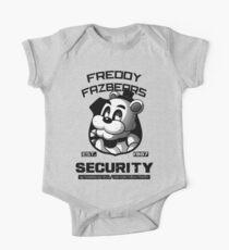 Freddy Fazbear's Security BLACK AND WHITE One Piece - Short Sleeve