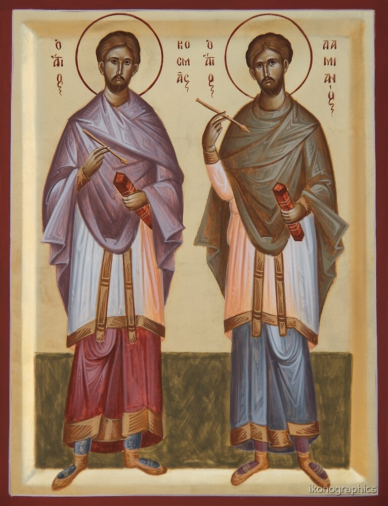 Sts Cosmas and Damian by ikonographics