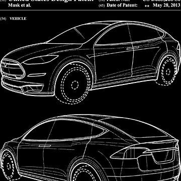 Tesla Model X Body Patent Art - Elon Musk by elonscloset