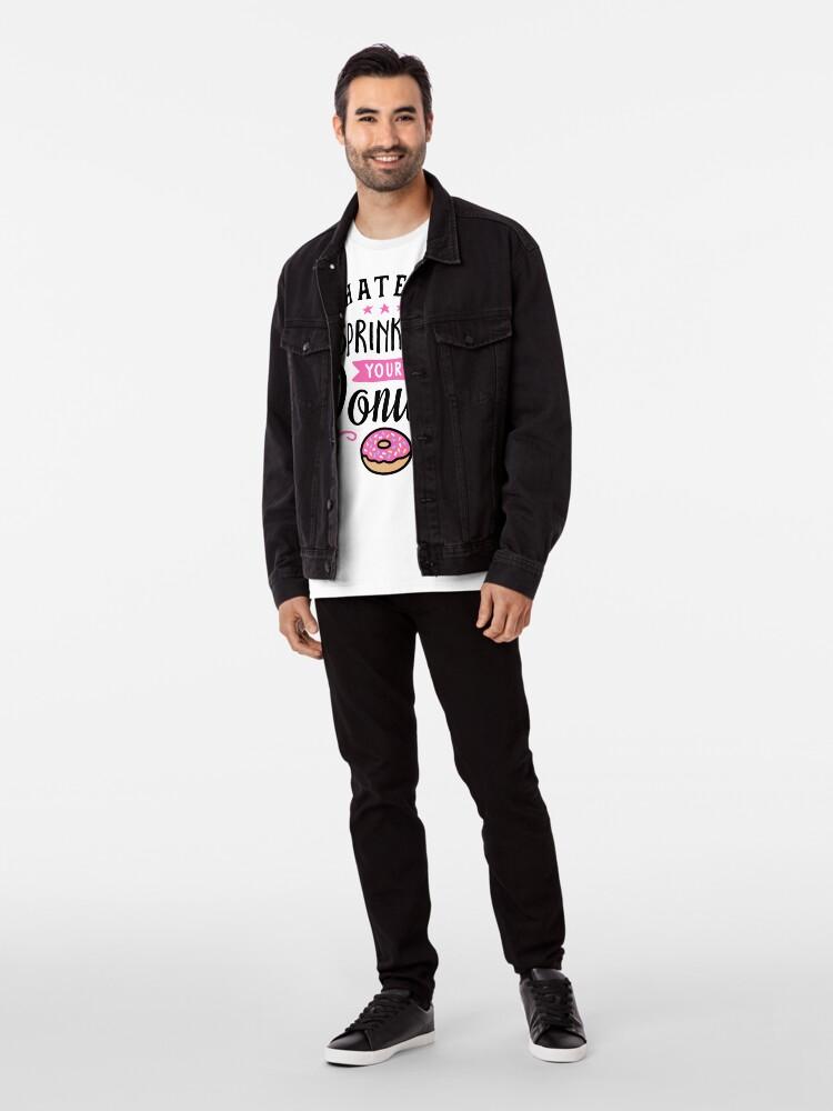 Alternative Ansicht von Was auch immer Ihre Donuts-Typografie besprüht Premium T-Shirt