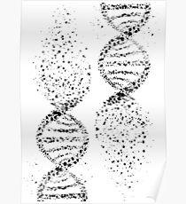 DNA, Aquarell Kunst, Dna Doppelhelix genetisch Poster