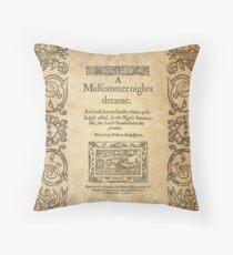Shakespeare, A midsummer night's dream 1600 Throw Pillow