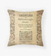 Shakespeare, A midsummer night's dream 1600 Throw Pillow