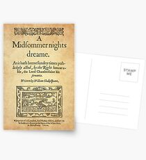 Shakespeare, A midsummer night's dream 1600 Postales
