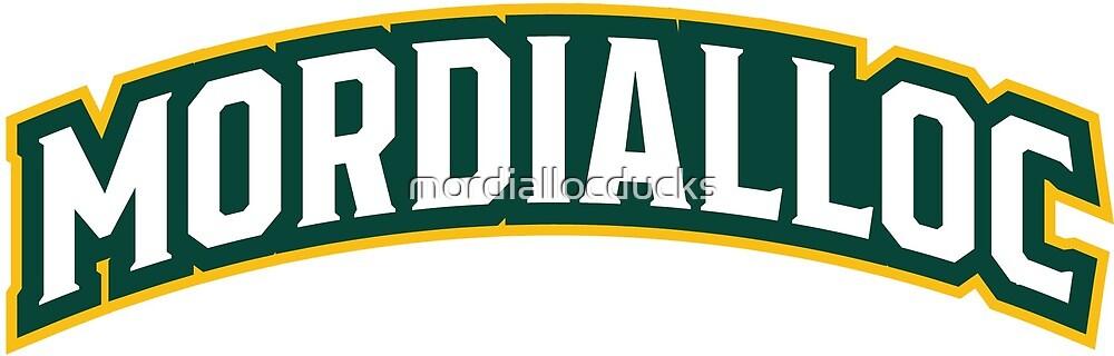 Mordialloc Uniform Wordmark Design by mordiallocducks