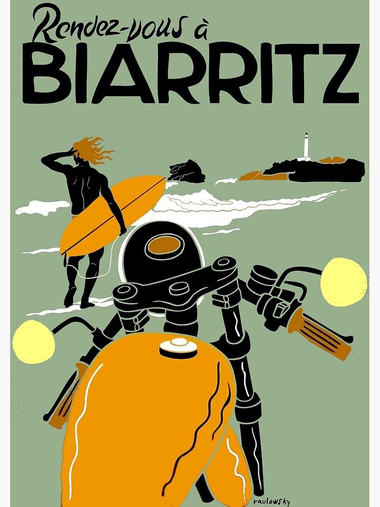 """BIARRITZ"" Vintage Travel Advertising Print by posterbobs"