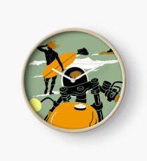 """BIARRITZ"" Vintage Travel Advertising Print Clock"