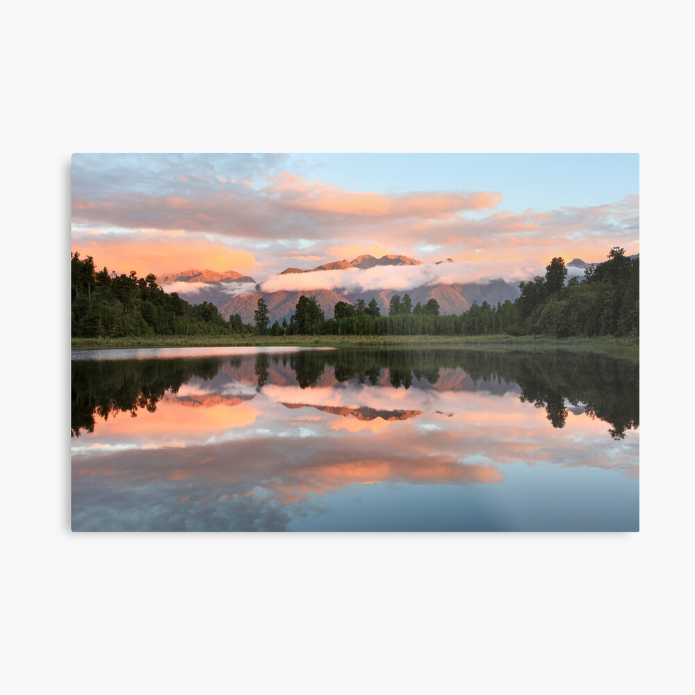 Lake Matheson, South Island, New Zealand Metal Print