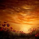 Poppies in the Setting Sun by Cherie Roe Dirksen