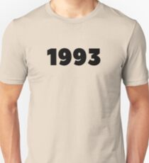 1993 Born In 1993 Made In 1993 Birthday Personalized Vintage 1993 He Is Born In The 90's Birthday Decoration Gift  Unisex T-Shirt