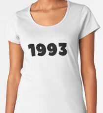 1993 Born In 1993 Made In 1993 Birthday Personalized Vintage 1993 He Is Born In The 90's Birthday Decoration Gift  Women's Premium T-Shirt