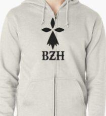 bzh breizh breton bretagne Zipped Hoodie