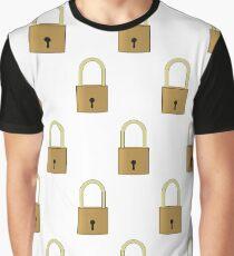 Padlocks Graphic Art Design Graphic T-Shirt