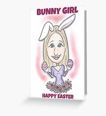 Bunny Girl Greeting Card