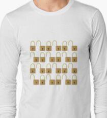 Closed and opened padlocks Long Sleeve T-Shirt