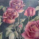 Rose Garden Ink & Colored Pencil by ReginaThompson