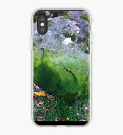 A sitting stone gathers moss iPhone Case