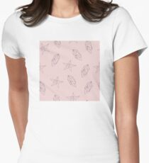 Pattern design with graphic objects Women's Fitted T-Shirt