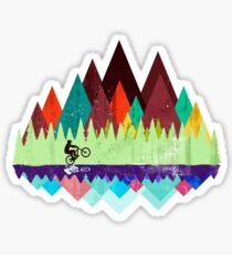 MTB trails retro Sticker