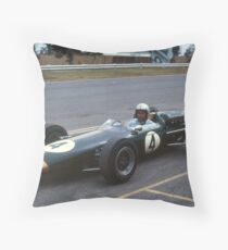 Jack Brabham, Sandown Park, Melbourne. 1965 Throw Pillow