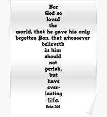 JOHN 3:16 cross Poster