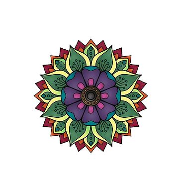 Rainbow flower by twin2017