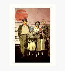 ''Luchadores Have Families Too'' Art Print