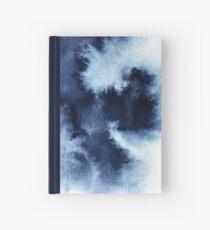 Cuaderno de tapa dura Nebulosa índigo, pintura abstracta azul