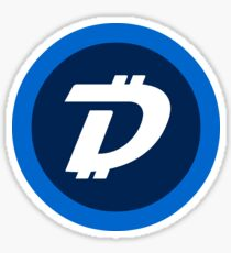 DigiByte DGB Crypto Currency Icon Sticker