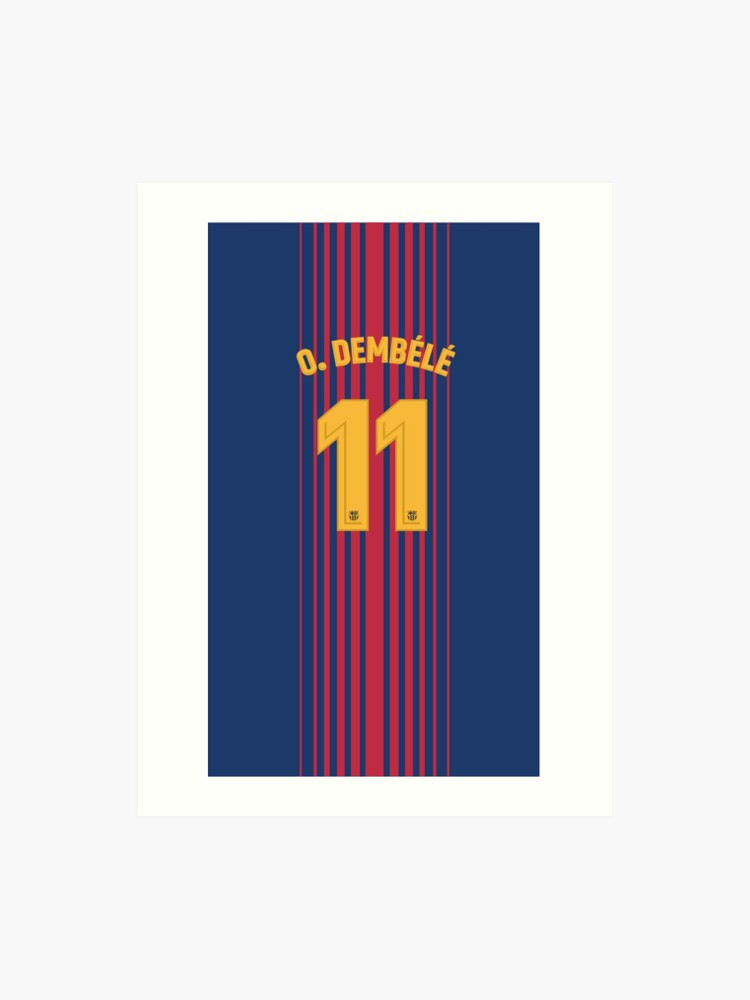 promo code 09eac f079f Barcelona Home Shirt Dembele Phone Case | Art Print