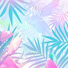 Pastel Rainbow Tropical Paradise Design by oursunnycdays