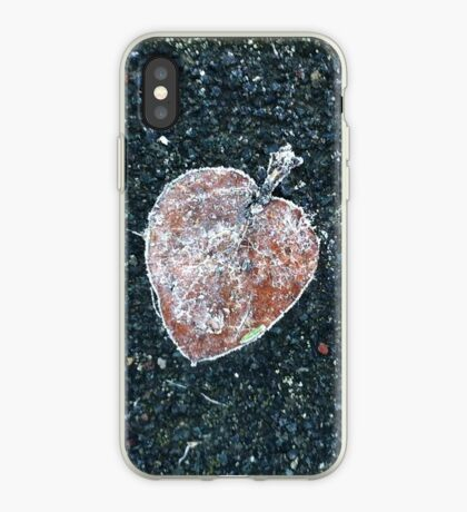 Frosted fallen leaf iPhone Case