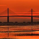 Sunshine Skyway Bridge Sunrise by sailorsedge