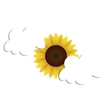 Sunflower and clouds by SKETSIE