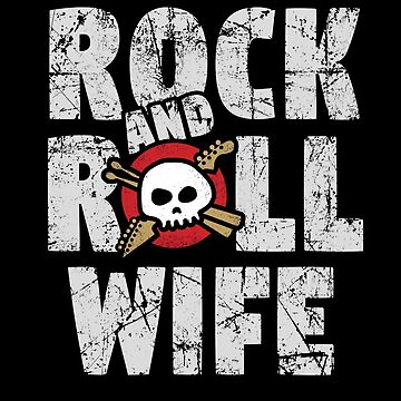 Rock and Roll Wife Skull and Guitar Logo by SunnyStreet