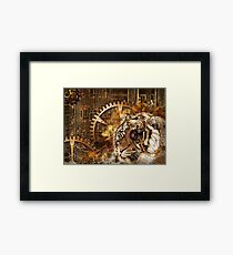 SteamPunk background Framed Print